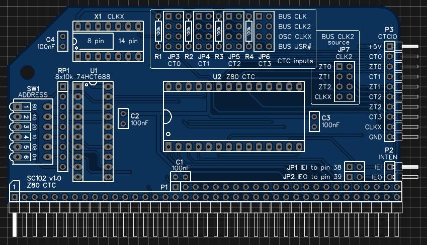 SC102 Z80 CTC circuit board