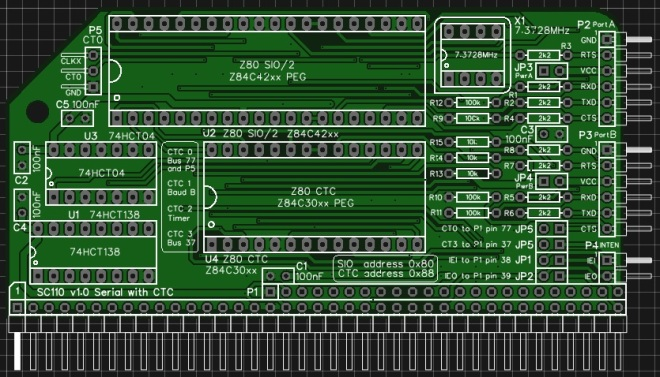 Circuit board illustration - top