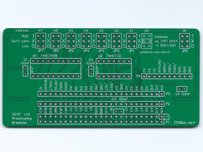 sc117 v1.0 pcb image green top