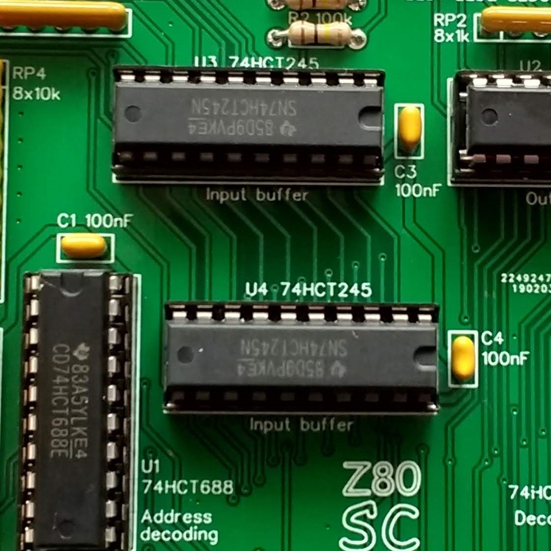 Z80 Zeta SBC v2 Homebrew IC Kit