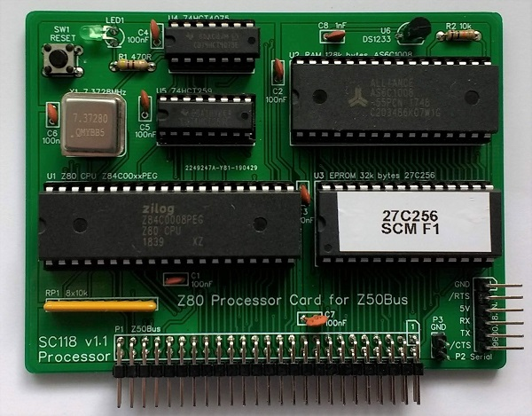 Z80 Card for Z50Bus | Small Computer Central